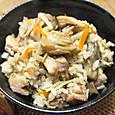 20131223 鶏肉の炊き込みゴハン