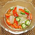 20140818 冬瓜と夏野菜のゼリー寄せ