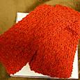 20141123 モヘアのカノコ編みミニマフラー