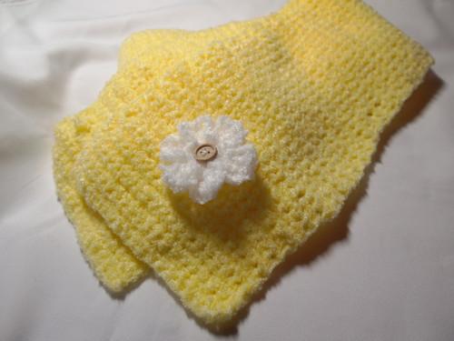 20130127 黄色い花付きミニマフラー
