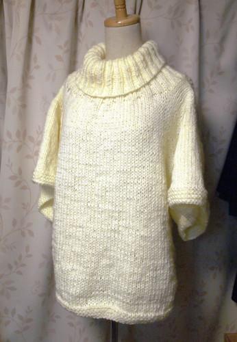 20130218 白いタートルセーター