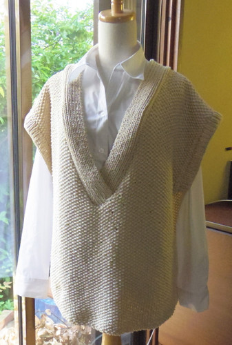 20130508 カシュクール風襟のコットンセーター