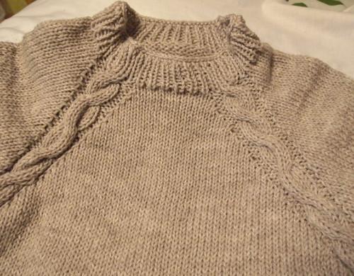 20140105 蛇編みのセーター
