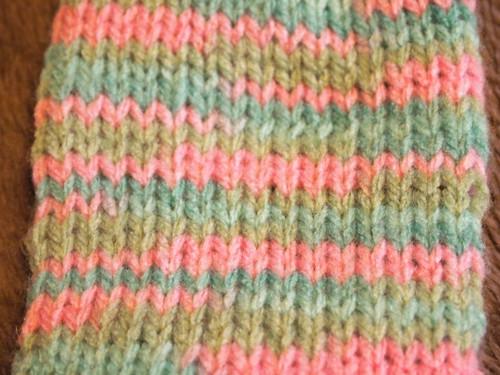 20150115 段染め毛糸の編み目
