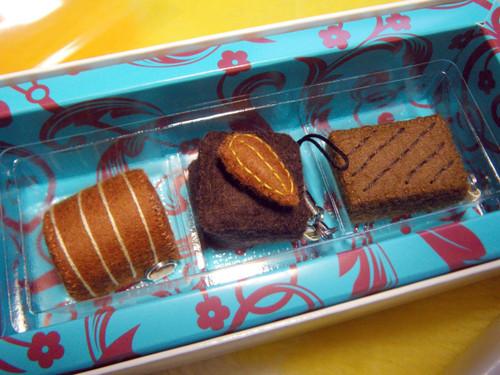 20100214 フェルトチョコレート